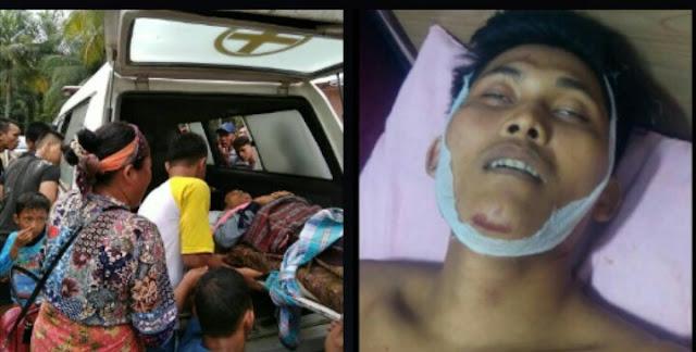 Jenazah korban pembunuhan di Asahan saat dibawa naik ambulance