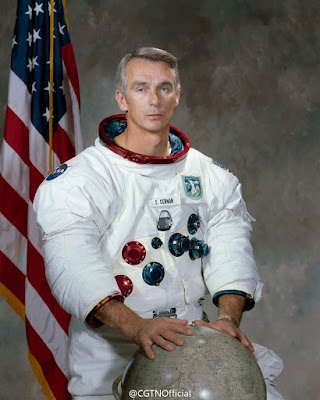 Former US astronaut Eugene Cernan died on Monday at the age of 82
