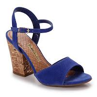 Sandália Salto Feminina Via Marte - Azul