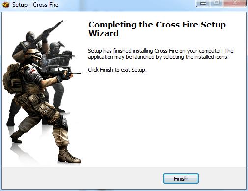 إنهاء عملية تثبيت لعبة كروس فاير