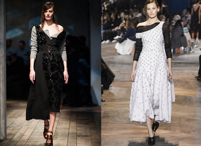Fashion copycats Prada Fall/Winter 2013 VS Christian Dior Spring/Summer 2016 via www.fashionedbylove.co.uk