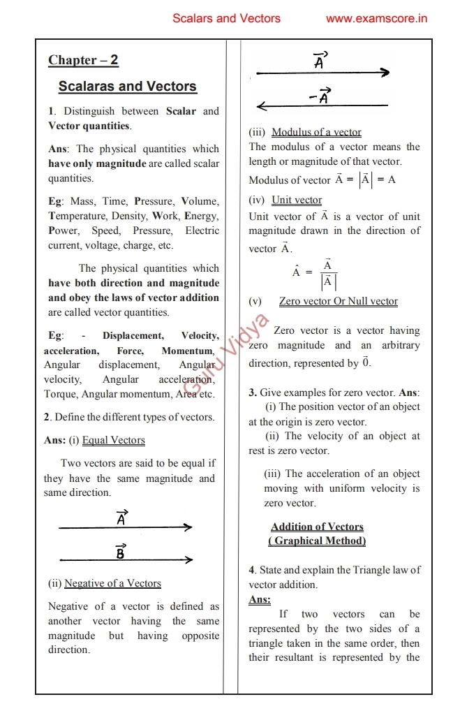 Cbse 12th Physics Notes Pdf