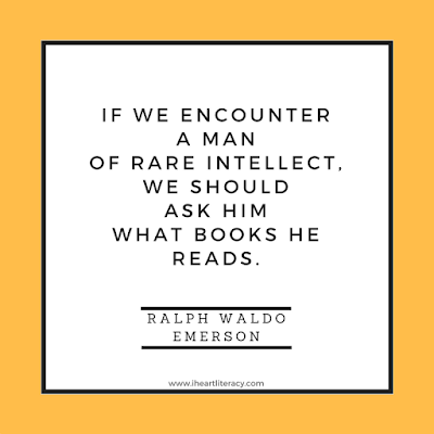 If we encounter a man of rare intellect, we should ask him what books he reads.  -Ralph Waldo Emerson #books