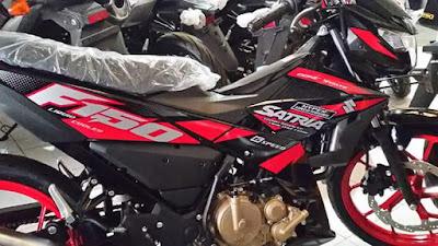 Satria F150 FI Stripping Baru - Merah Hitam