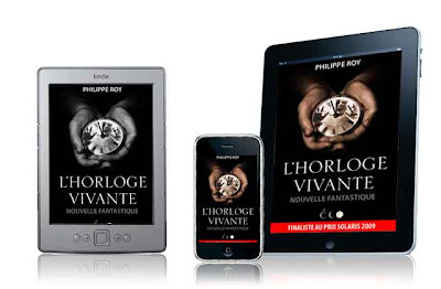 La couverture de l'Horloge vivante sur Kindle, iPad et iPod Touch