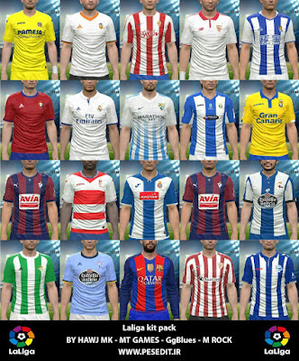 PES 2016 La Liga 2016-17 Full Kits Pack by Hawj Mk