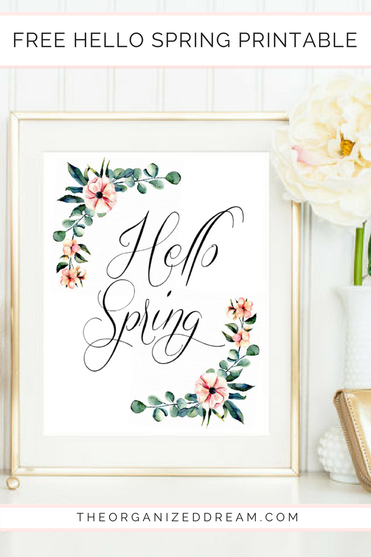 photograph about Spring Printable identify Cost-free Floral Hi Spring Printable - The Well prepared Desire