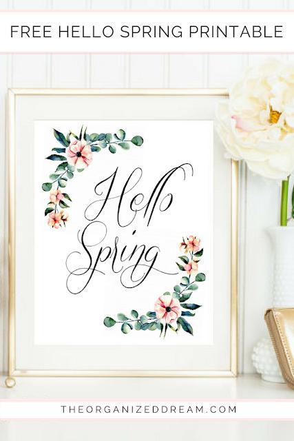 Free Floral Hello Spring Printable