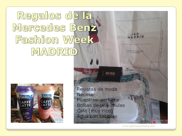 html://www.patronycostura.com/Abanico de ideas de Mercedes fashion week Madrid