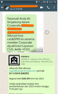 Testimoni CUG Telkomsel Kartu Pasangan Kartu Komunitas Kartu Soulmate Kartu Couple 8 November 2018