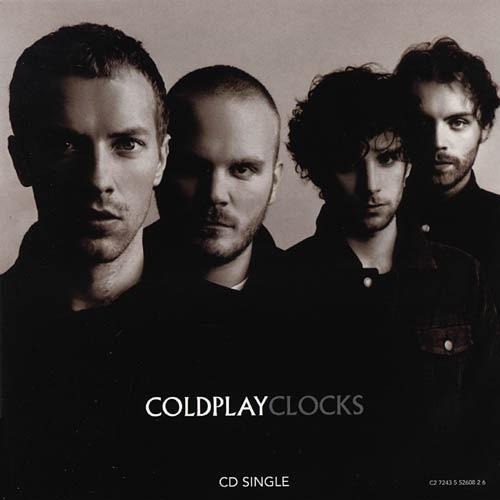 Portada disco Clocks del grupo Coldplay