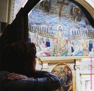Santa Pudenziana mosaico abside guia brasileira roma - Um pouco de história da igreja de Santa Pudenciana