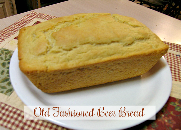 Today's recipe is short and sweet!!! The other day I mentioned in my beef stew post that I was serving this delicious Old Fashioned Beer Bread along side.