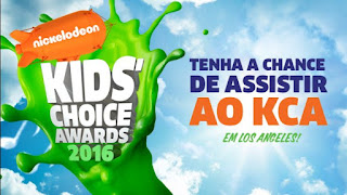 "Concurso Cultural ""Nickelodeon Kids' Choice Awards 2016 """