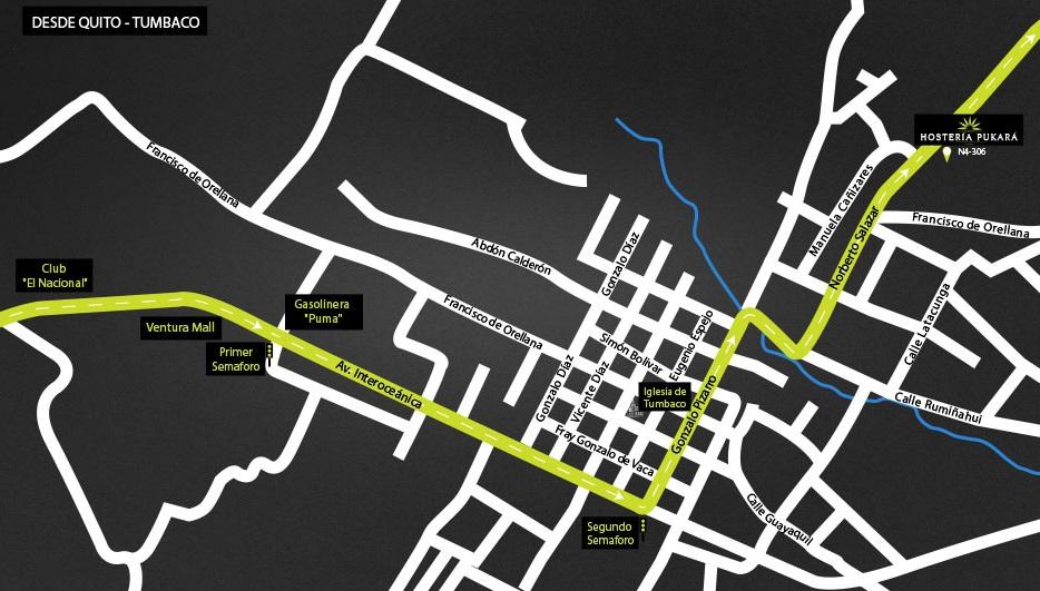 Hosterías turísticas en Quito – Hostería Pukará - ubicación