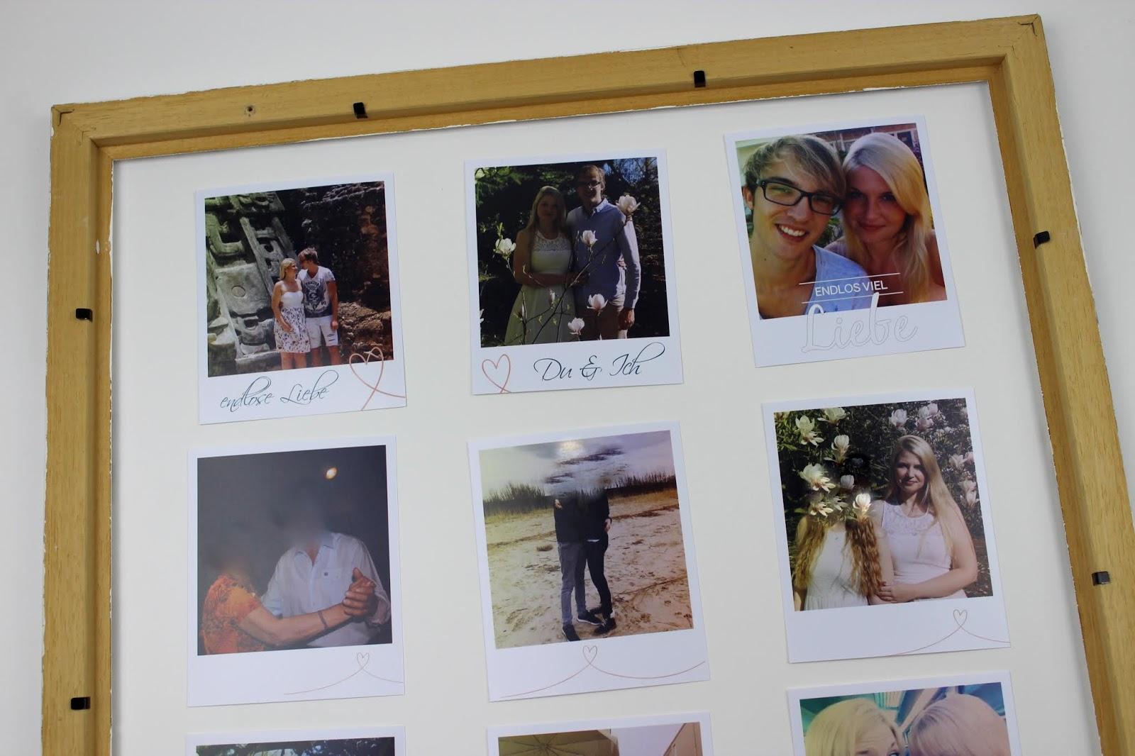 Diy Ausgefallener Bilderrahmen Mit Fotos Im Polaroid Stil Selber