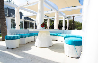 Alma Oasis Resort – charming with blue and white sofa set from ATC Resort Furniture Supplier