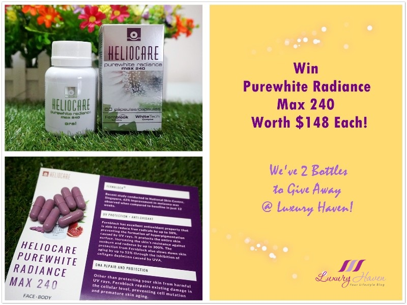 Purewhite Radiance Max 240 Anti-Ageing Supplements Giveaway!