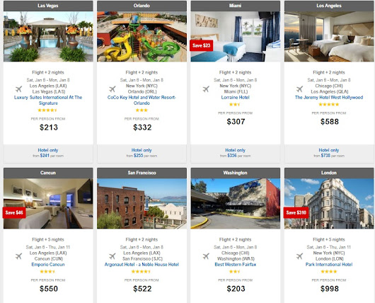 See All Daily Package Deals on Expedia!