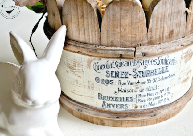 Wooden Easter Basket and a Transfer