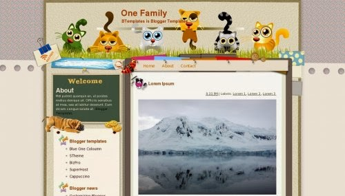 one family education blogger template