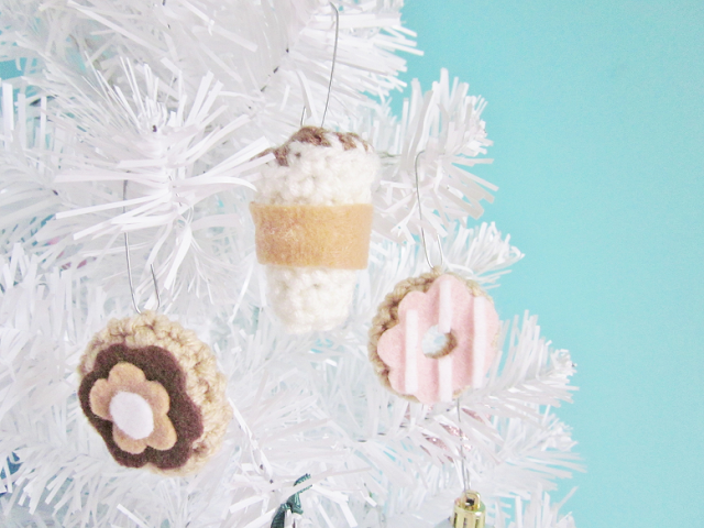 DIY Coffee Shop Ornaments
