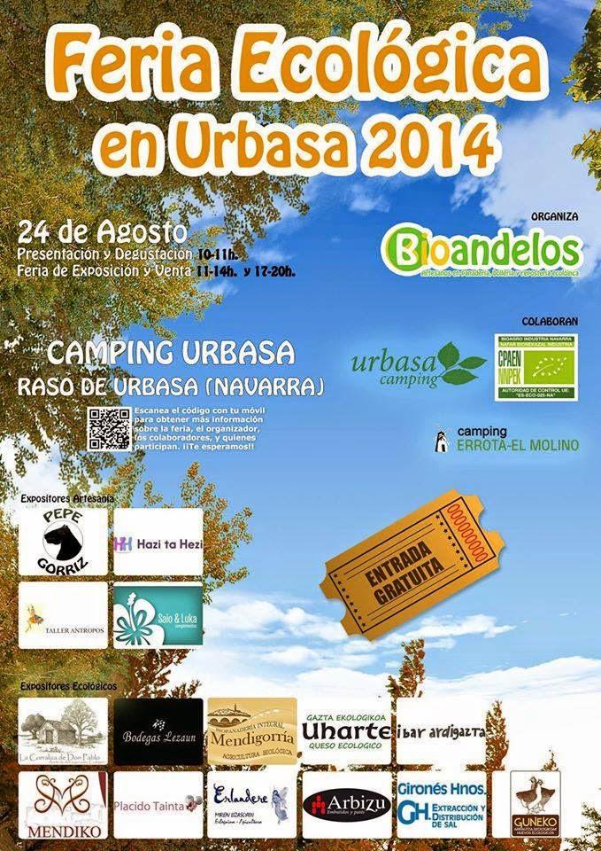 4c5e0503ac El domingo 24 de agosto, a partir de las 10:00 horas, en el camping de  Urbasa se va a celebrar una interesante feria ecológica.
