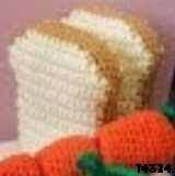 patron gratis pan amigurumi, free amigurumi pattern bread