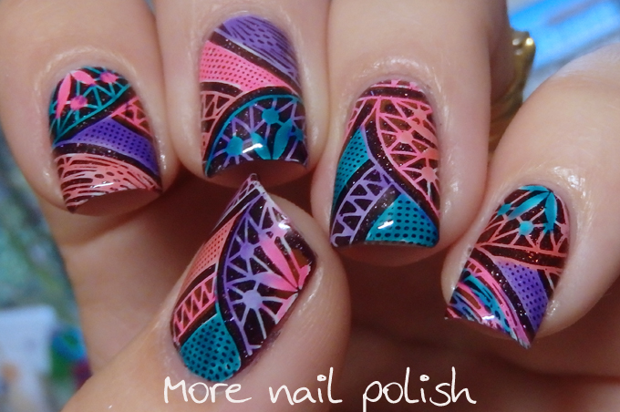 Reverse Leadlight Stamping More Nail Polish