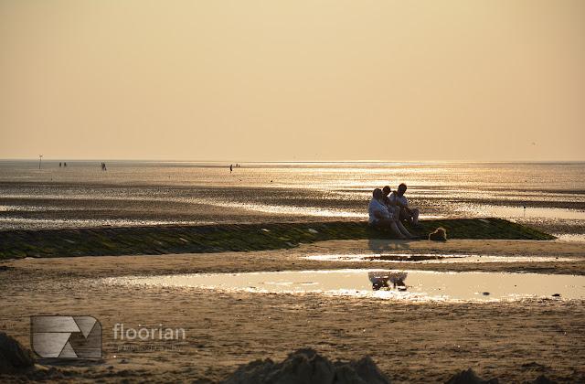 Zachód słońca w Cuxhaven