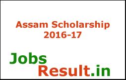 Assam Scholarship 2016-17