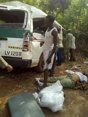 Graphic Photos Two corps members killed others injured