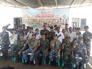 Lantamal VII Kupang Adakan Baksos Dan Bakti TNI Di Daerah Pesisir Dan Terpencil