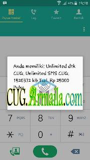 * Pelanggan melakukan pengecekan *889# dan mendapatkan info;