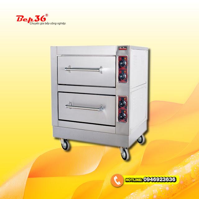Lò nướng công nghiệp hai tầng sử dụng điện Bep36