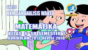 KKM dan Jurnal Harian Matematika Kelas 6 Semester 1 Kurikulum 2013