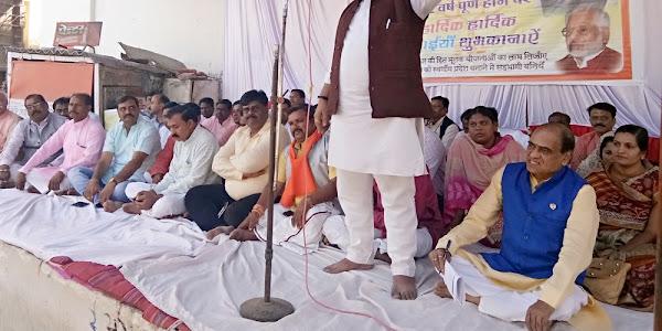पाँव पाँव वाले नेता ने गाँव गाँव विकास की गंगा बहा दी 12 वर्षो में - जिलाध्यक्ष भावसार