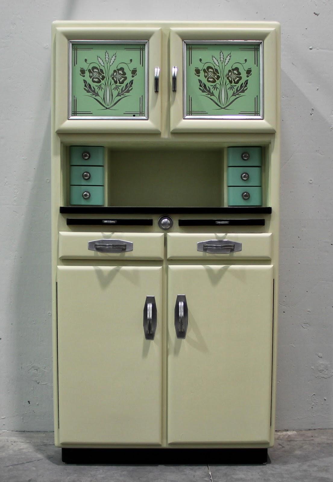 Odalisca madrid art nouveau art deco dise o del siglo xx vintage mesa y mueble de cocina - Muebles de cocina estilo retro ...