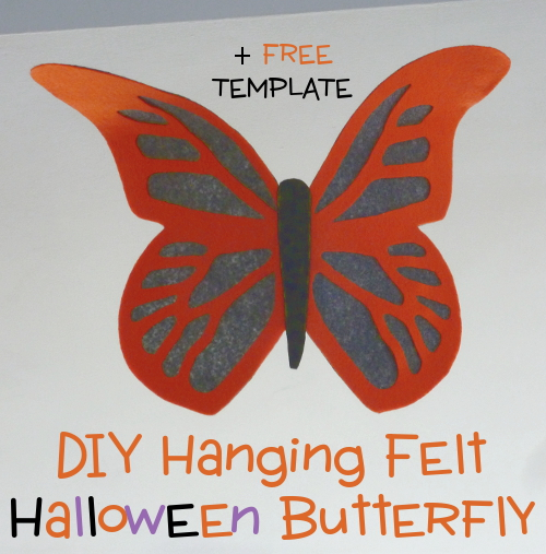 DIY Craft Hanging Felt Halloween Butterfly