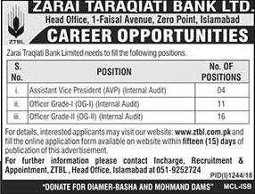 Latest Vacancies Announced in www.ZTBL.com.pk ZTBL Zarai Taraqiati Bank Limited 18 September 2018 - Naya Pak Jobs