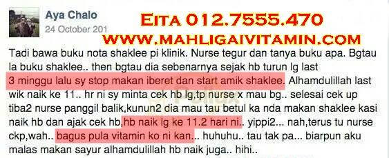 testimoni vitamin shaklee naikkan HB ibu hamil