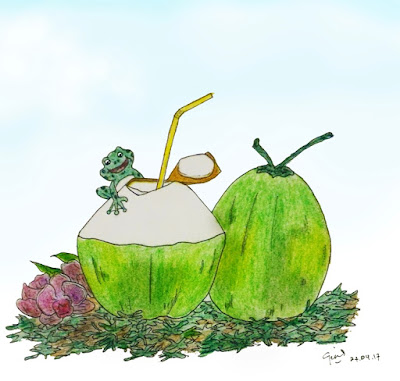 children-art-delicious-coconut-water
