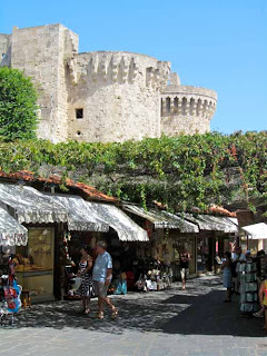 Shopping Old Town Rhodes Greece