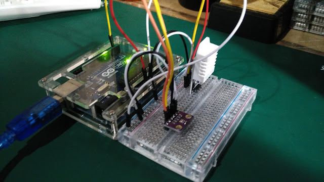 Read temperature and barometric pressure from GY BMP 280 using Arduino