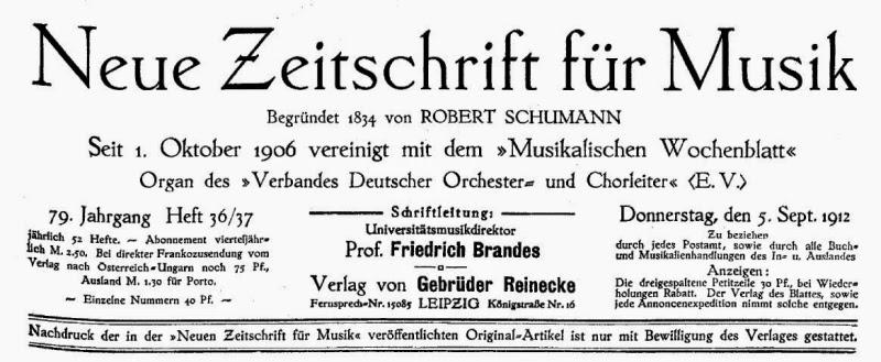 Neue Zeitschrift für Musik. 79. Jahrgang, Heft 36/37, September 1912