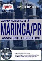 Apostila Câmara de Maringá 2017 para ASSISTENTE LEGISLATIVO