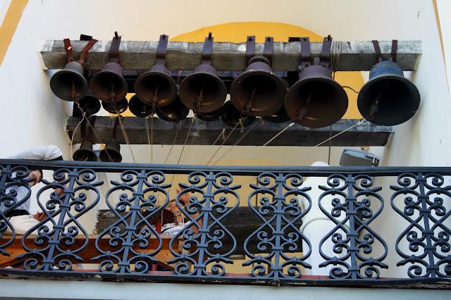 Вид на малые колокола с галереи