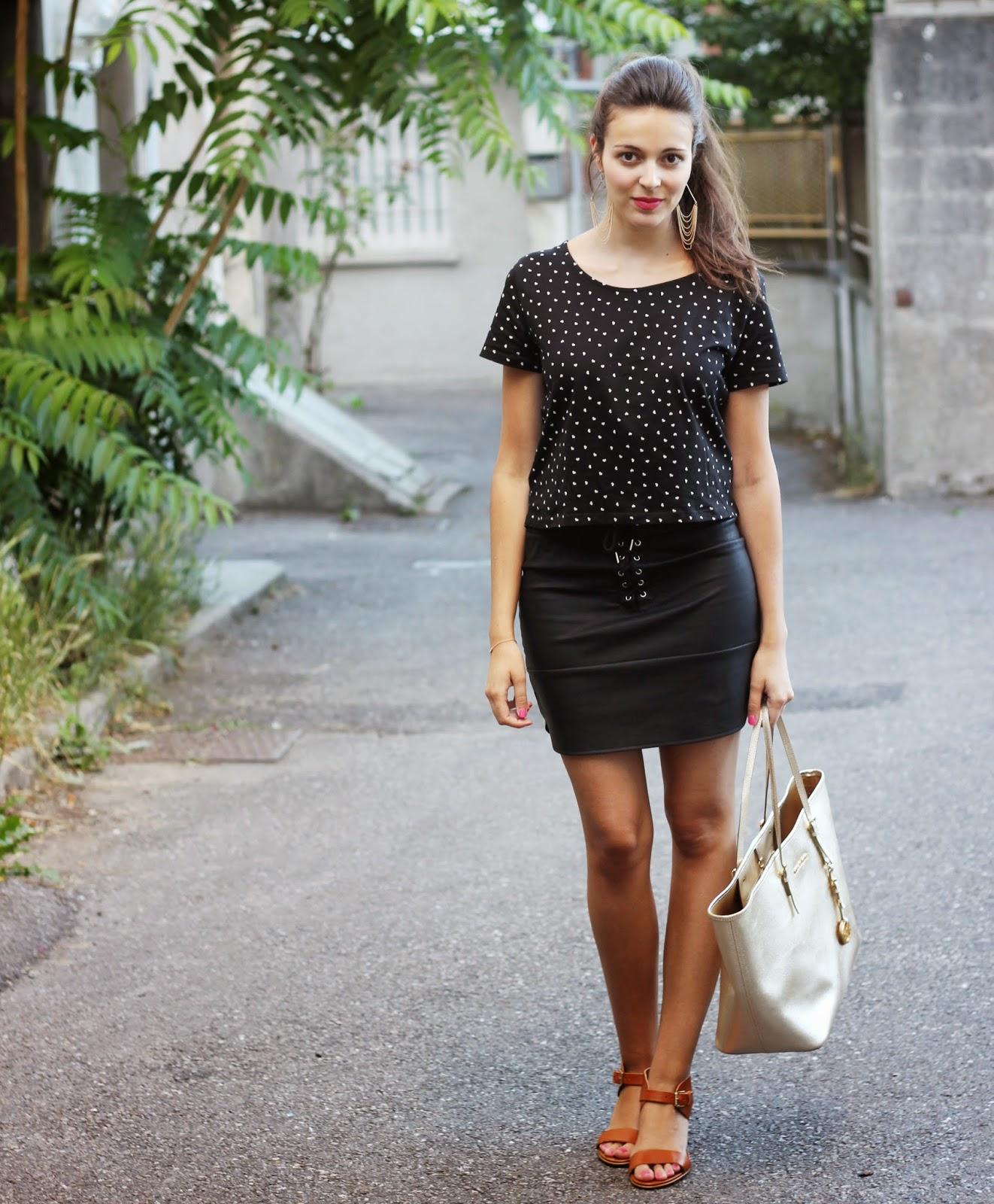 38f007a963634e Ma jupe similicuir / Les tendances by Marina - Blog mode, déco ...