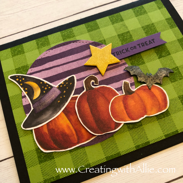 Check out the video tutorial showing you how to make Halloween card, where I show you tips and tricks for using Stampin Up's Toil and Trouble designer series paper!  You'll love how quick and easy this is to make!  www.creatingwithallie.com #stampinup #alejandragomez #creatingwithallie #videotutorial #cardmaking #papercrafts #handmadegreetingcards #fun #creativity #makeacard #sendacard #stampingisfun #sharewhatyoulove #handmadecards #friendshipcards #halloweencards