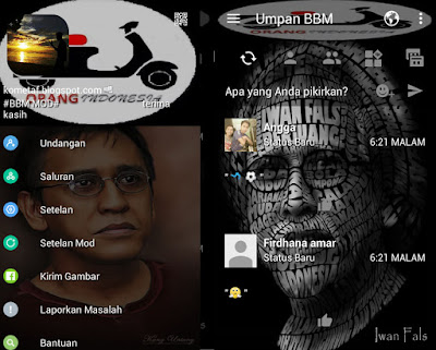 BBM Mod OI Iwan Fals v3.0.1.25 Pro APK Full Feature